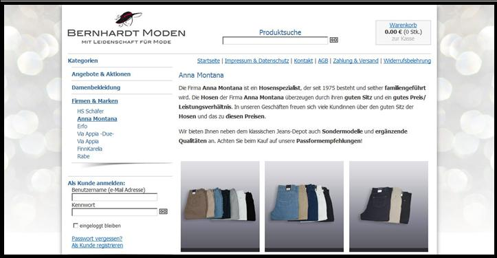 Anna Montana im Online-Shop