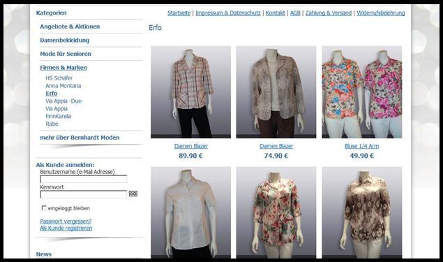 die Mode von Erfo im Obline-Shop