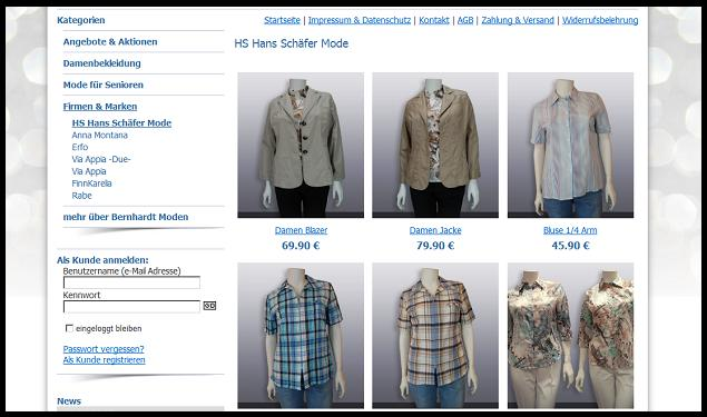 Hans Schäfer Mode im Onlineshop