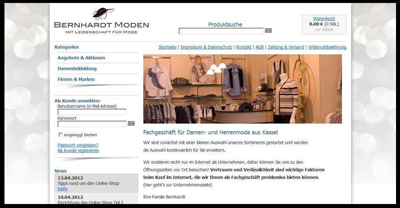 zum Mode Online-Shop