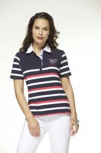 Maritimes Damen Polo-Shirt von HS Navigazione bei Bernhardt Moden online