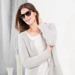 Lässige Kombination von Shirt und Strickjacke von Rabe Moden aus der Herbst Winter Kollektion 2015